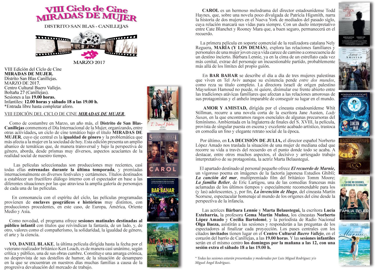 VIII Ciclo de Cine MIRADAS DE MUJER