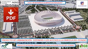Proyecto urbanizacion exterior Peineta