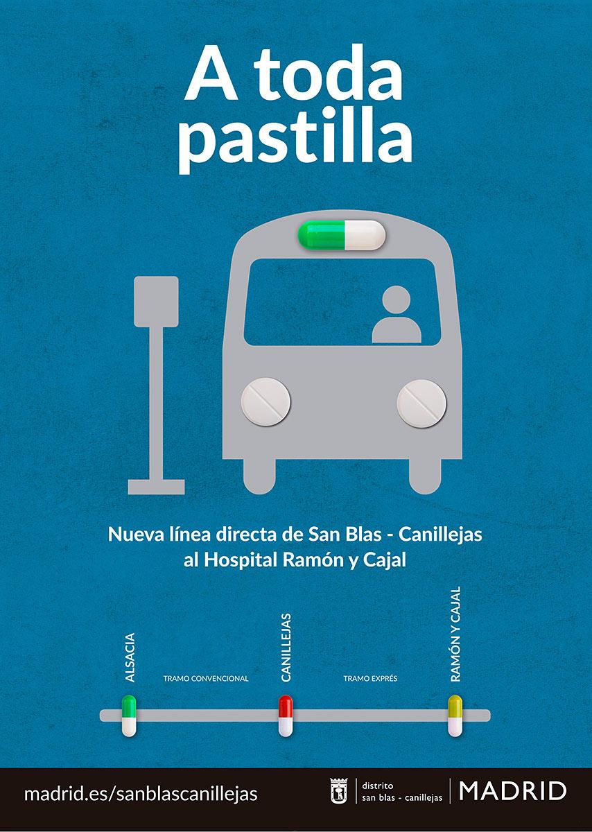 Nueva línea directa desde San Blas-Canillejas al Hospital Ramón y Cajal.