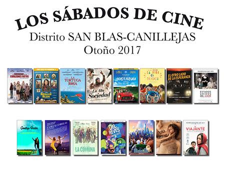 Los sábados de cine. San Blas-Canillejas. Otoño 2017.