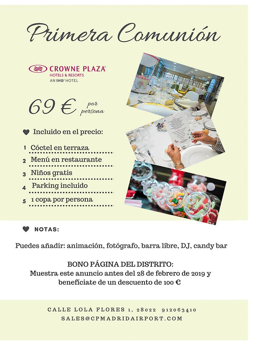 Crowne Plaza — Primera Comunión