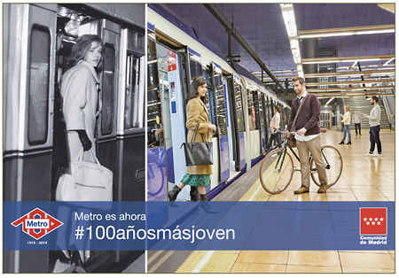 Metro Madrid #100añosmásjoven