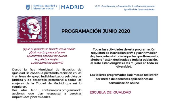 Programación cultural de junio 2020
