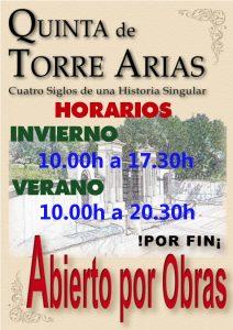 Horarios Quinta de Torre Arias