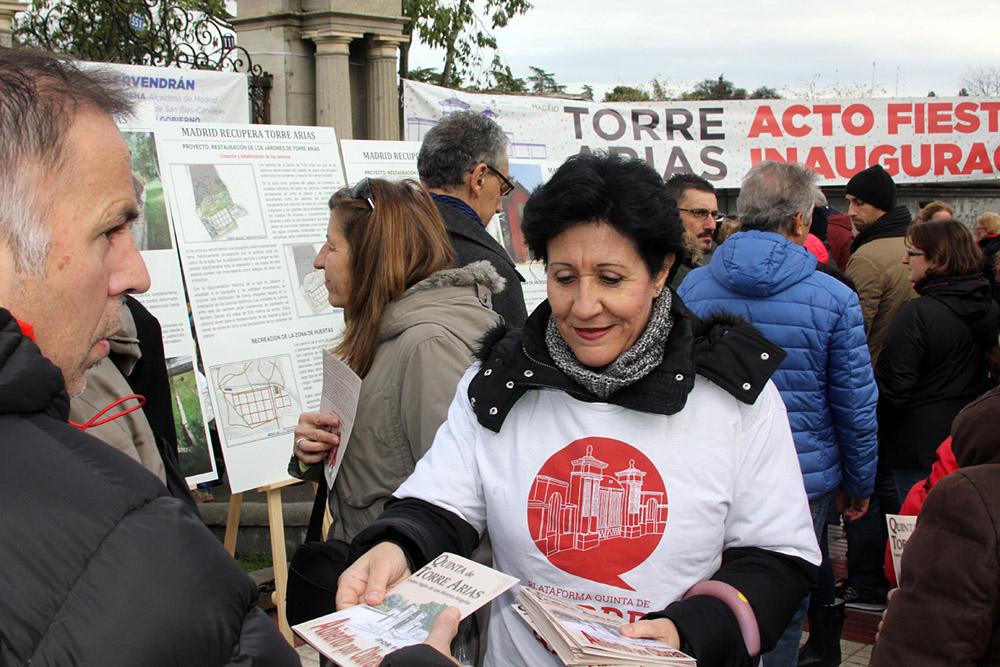 Inauguración de los jardines de Torre Arias