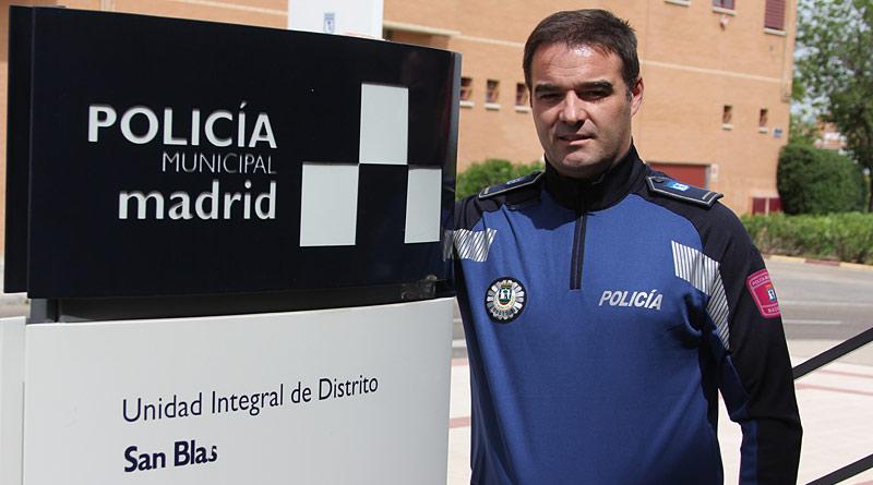 José Rodríguez Vacas. Policía Municipal en San Blas-Canillejas.