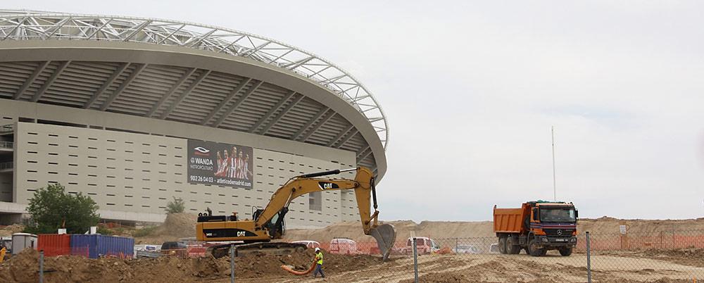 El estadio Wanda Metropolitano, el nuevo hogar del Club Atlético de Madrid.