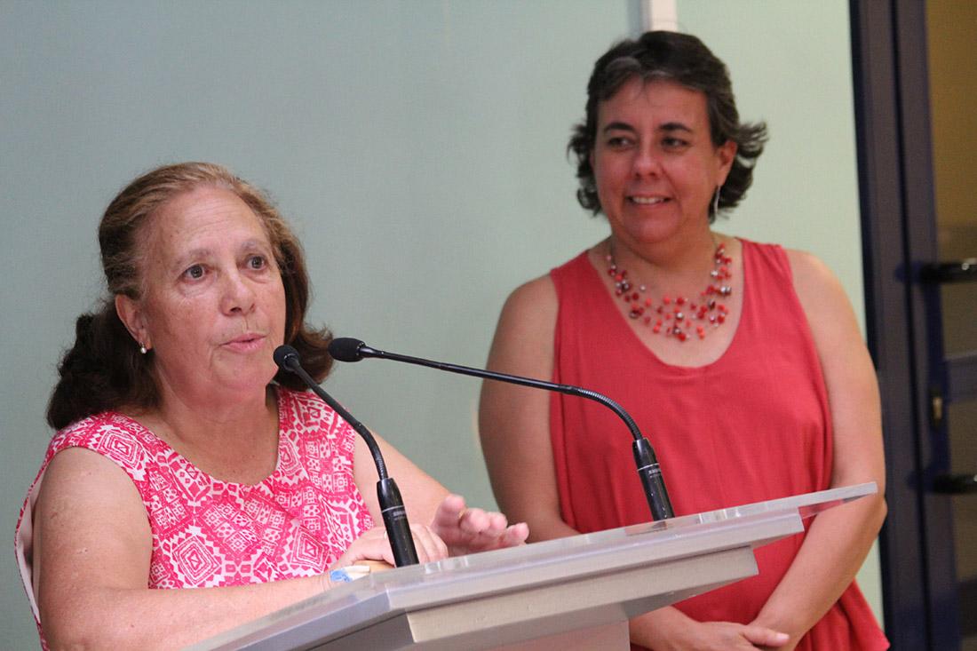 Inauguración del Espacio Social de La Chimenea - Justa Rodríguez, Marta Gómez