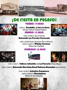Cartel Fiestas Ciudad Pegaso 2017