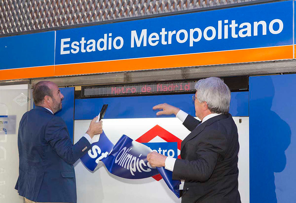 Estadio Metropolitano sustituye a Estadio Olímpico en la línea 7