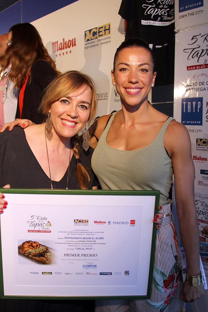 Mónica y María Sanz del restaurante El Álamo ganaron la Ruta con Tiro al pato