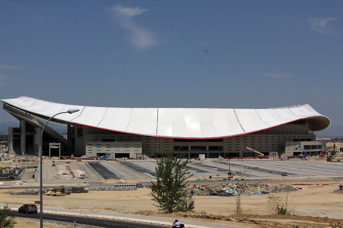 El Wanda Metropolitano estrena su espectacular cubierta