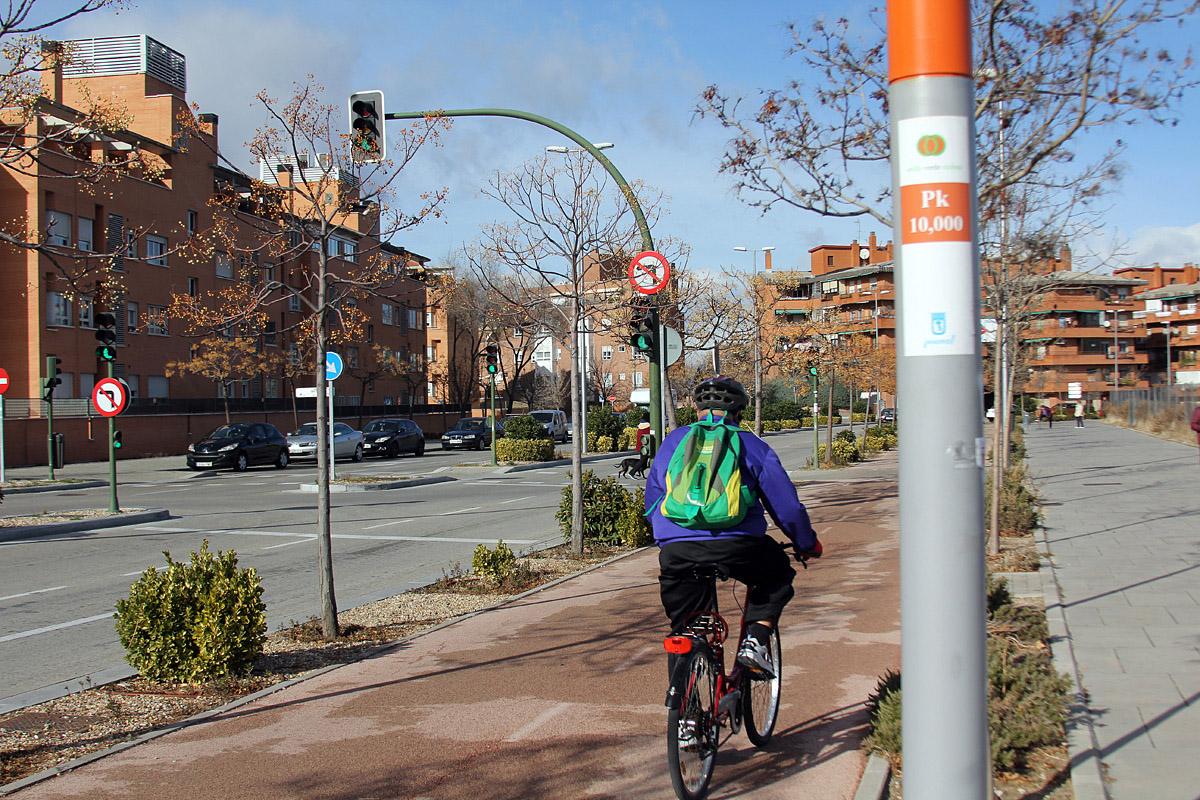 Anillo verde - Vías ciclistas