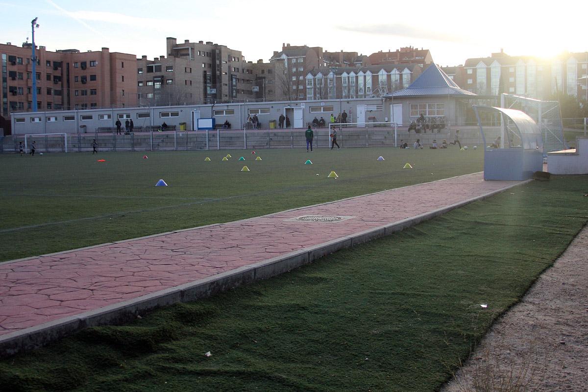 Campo de fútbol municipal de la Avenida de Guadalajara.