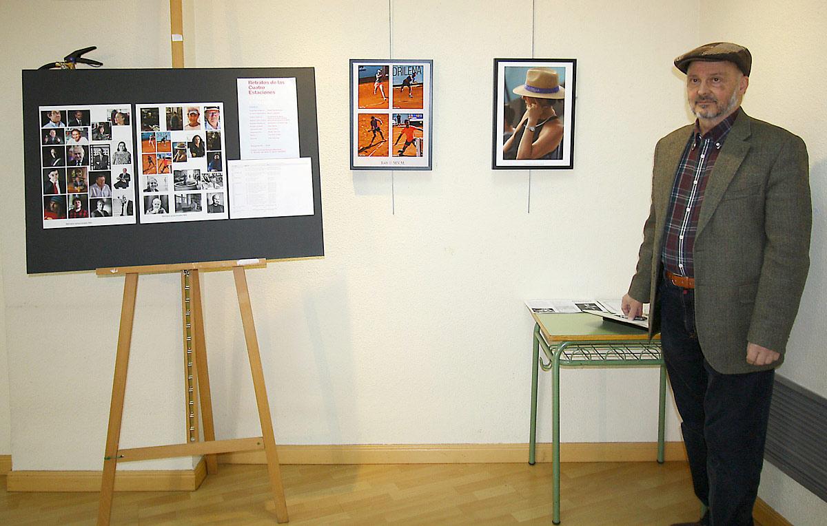 Manuel Vigo en la sala de exposiciones del Centro Cultural Antonio Machado