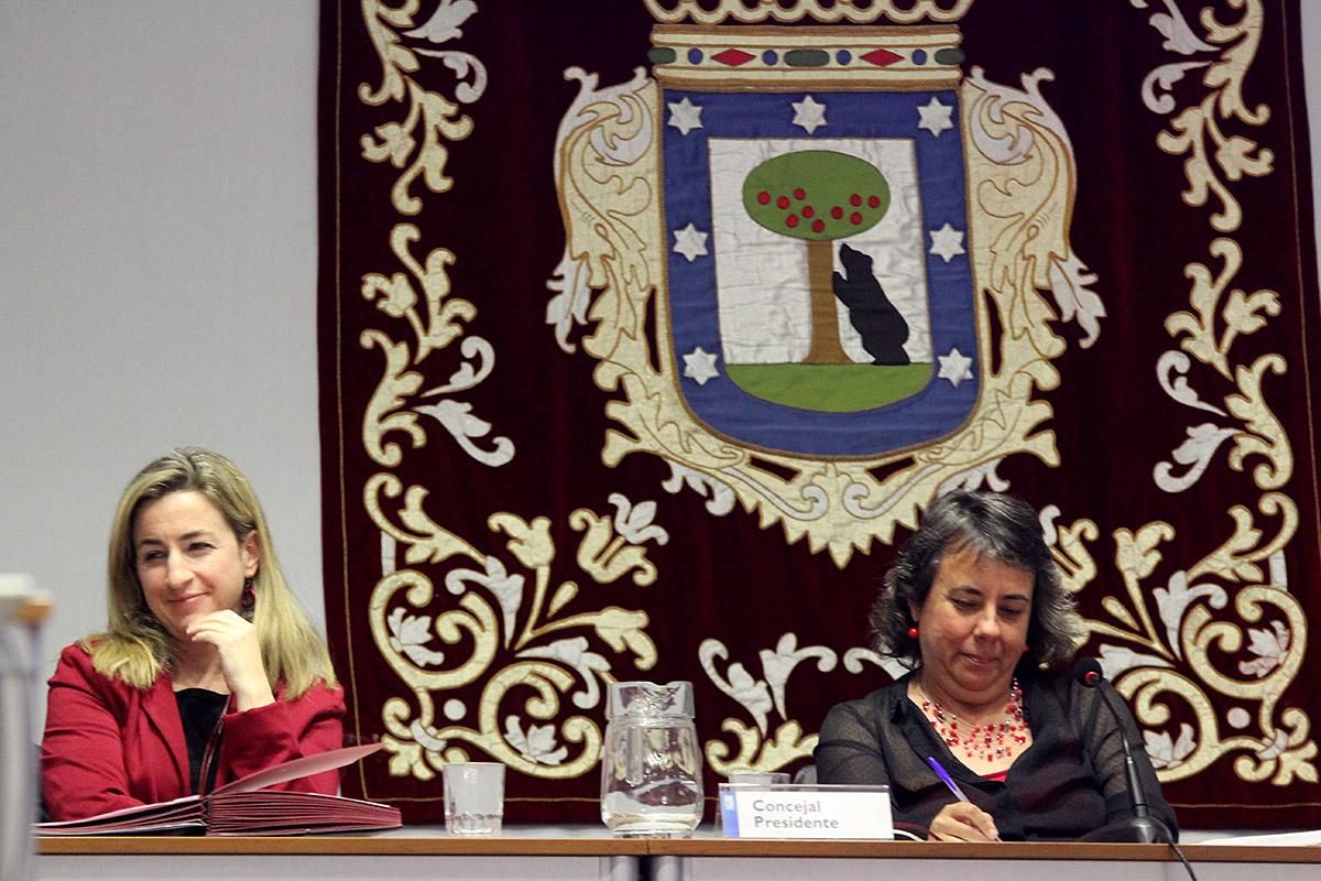 Marta Gómez en el Pleno municipal de abril de San Blas-Canillejas.