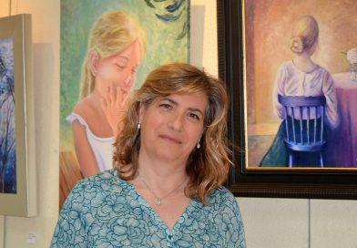 "Maite Gómez: ""Mis cuadros expresan mi estado de ánimo en cadamomento"""