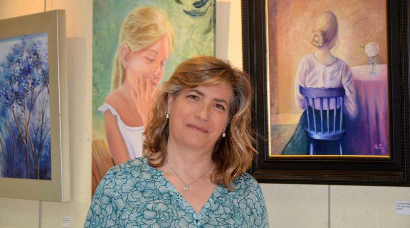 Maite Gómez en el centro cultural Antonio Machado