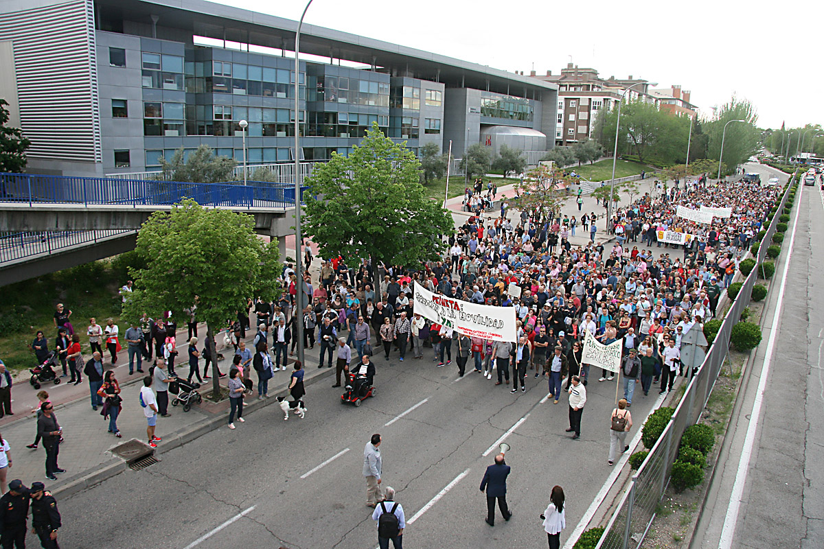 Manifestación Wanda Metropolitano