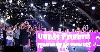 Las feministas protagonizan la protesta en las fiestas <br>de San Blas-Simancas
