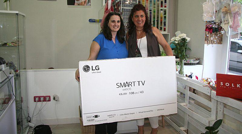 Mercería Ester Moreno otorgó la TV de la Ruta de Tiendas