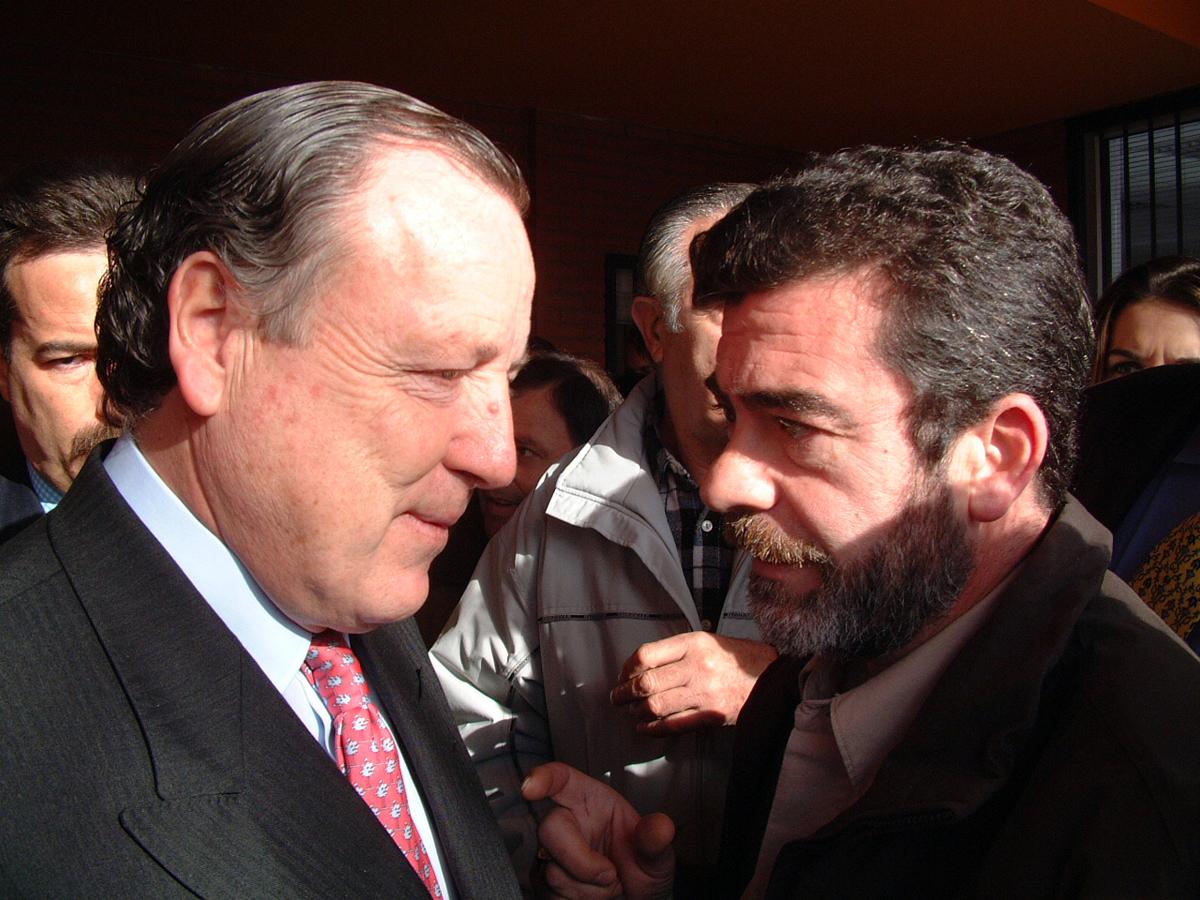 Con Álvarez del Manzano, ex alcalde de Madrid en la inauguración de Pauta.