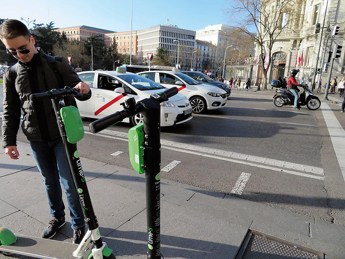 El distrito contará con 526 patines eléctricos en sus calles
