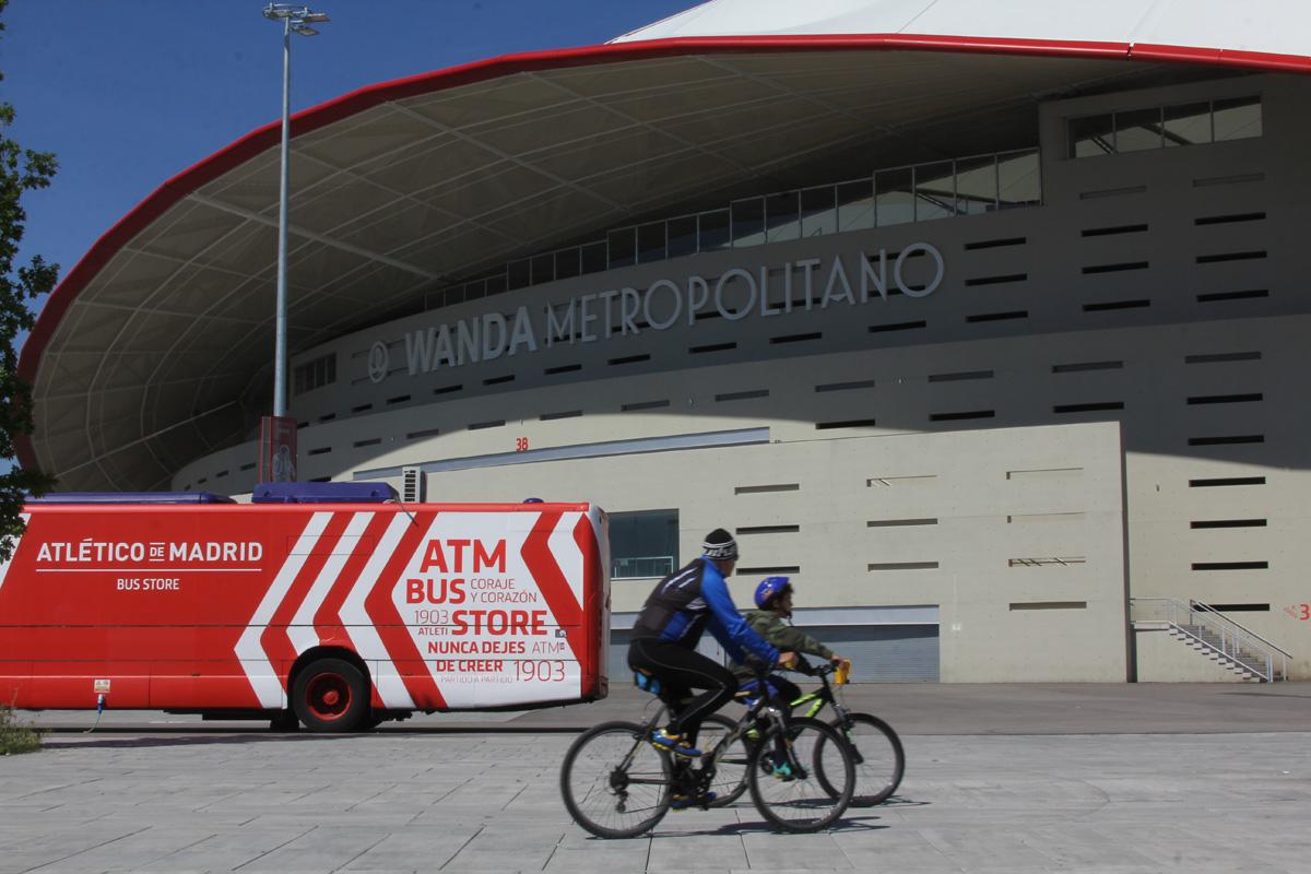 El Metropolitano se prepara para acoger la final de la Champions League
