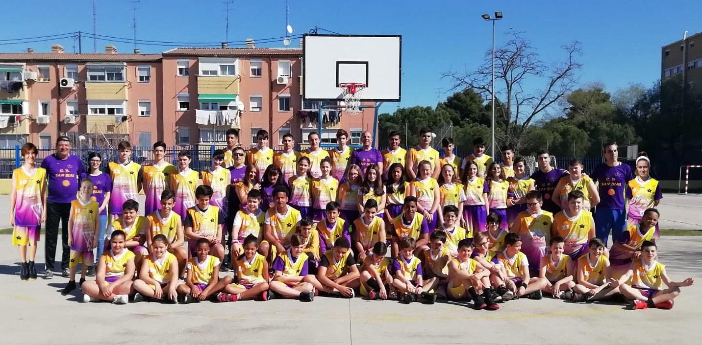 CB San Blas se ha convertido en el segundo club de baloncesto del barrio