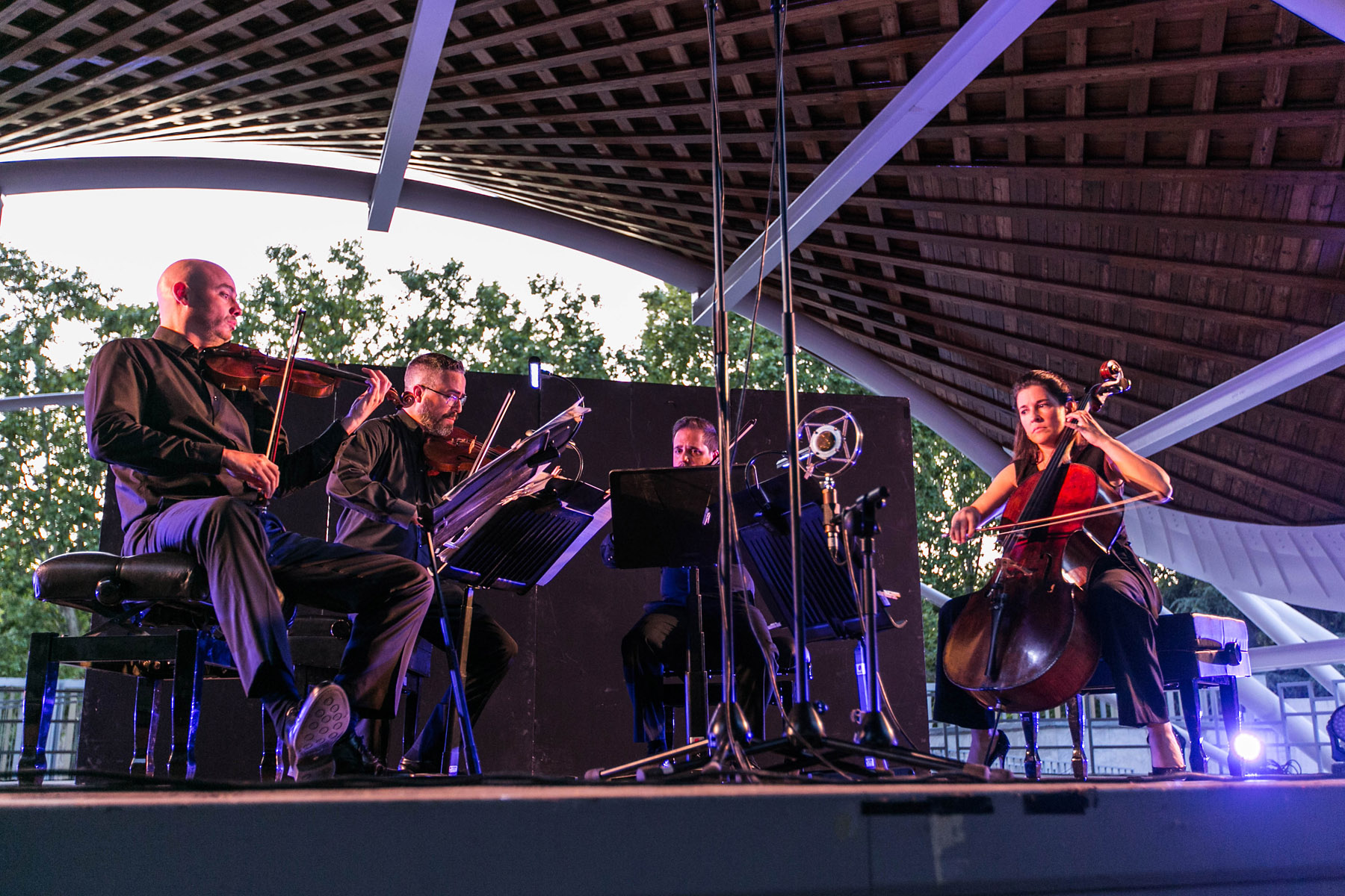 El Cuarteto Quiroga llena el auditorio del Parque Paraíso—Foto: Estudio Perplejo