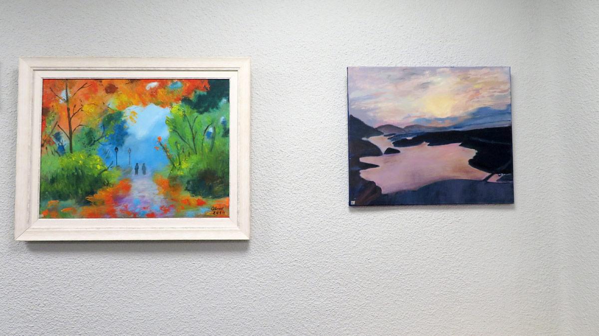 Exposicion arte al oleo