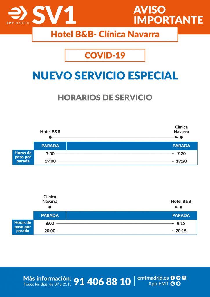 cartel servicio bus especial