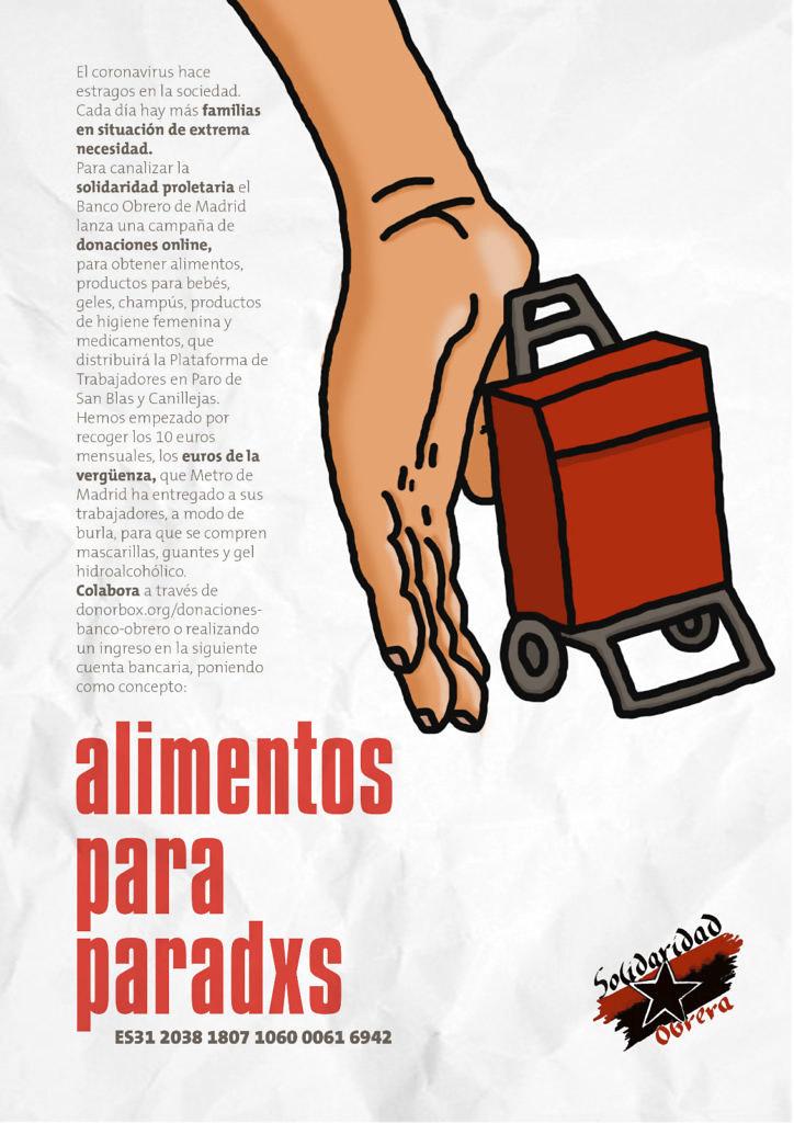 La campaña lanzada por Solidaridad Obrera para recaudar fondos