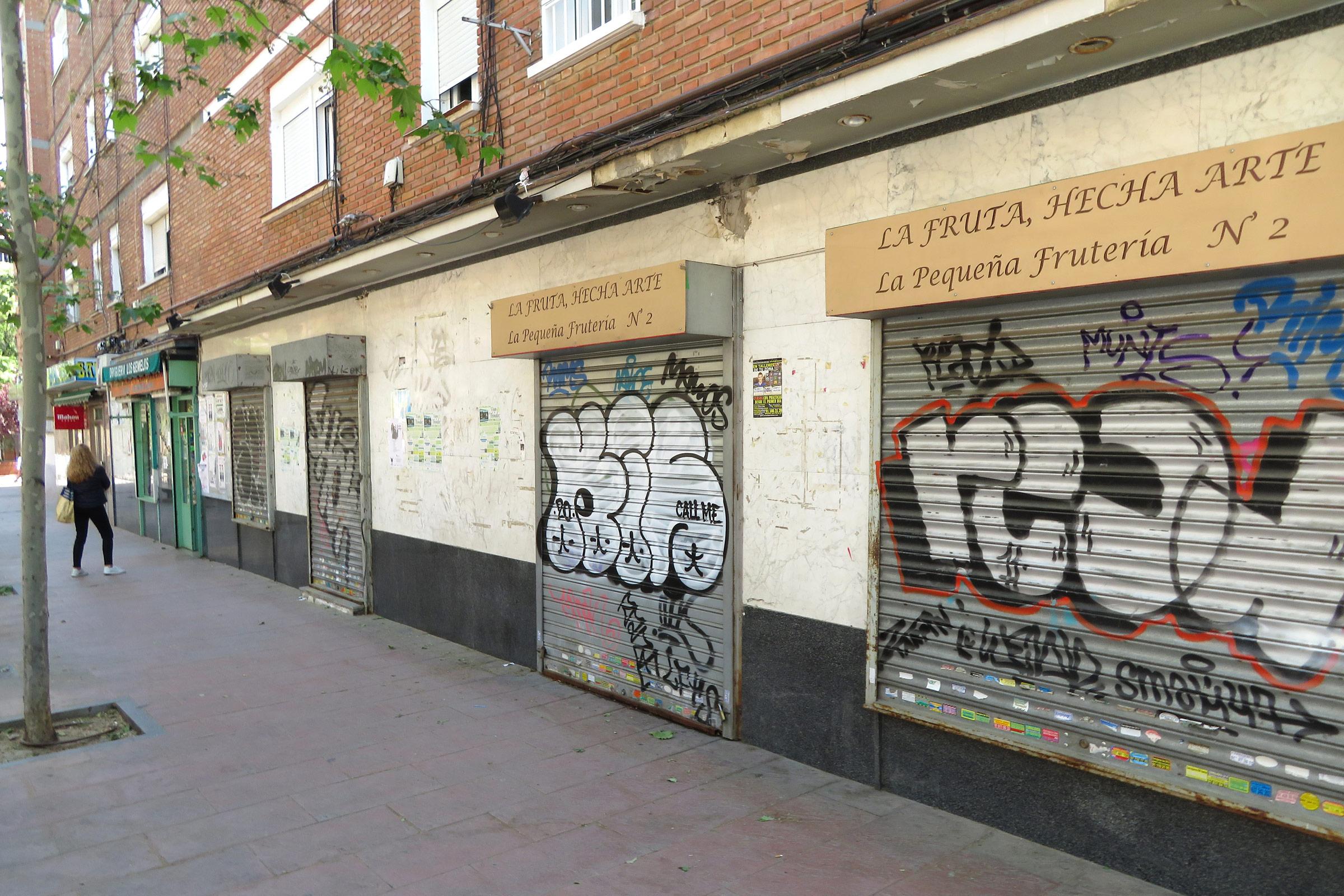 La crisis del coronavirus obligó a echar el cierre a muchas tiendas de barrio