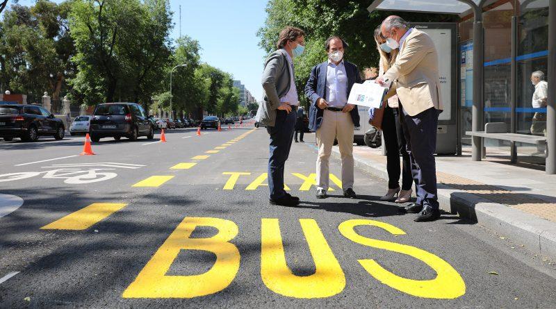 Los nuevos carriles bus se enmarcan en la Estrategia de Sostenibilidad Ambiental Madrid