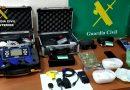Material incautado por la Guardia Civil a los tres detenidos