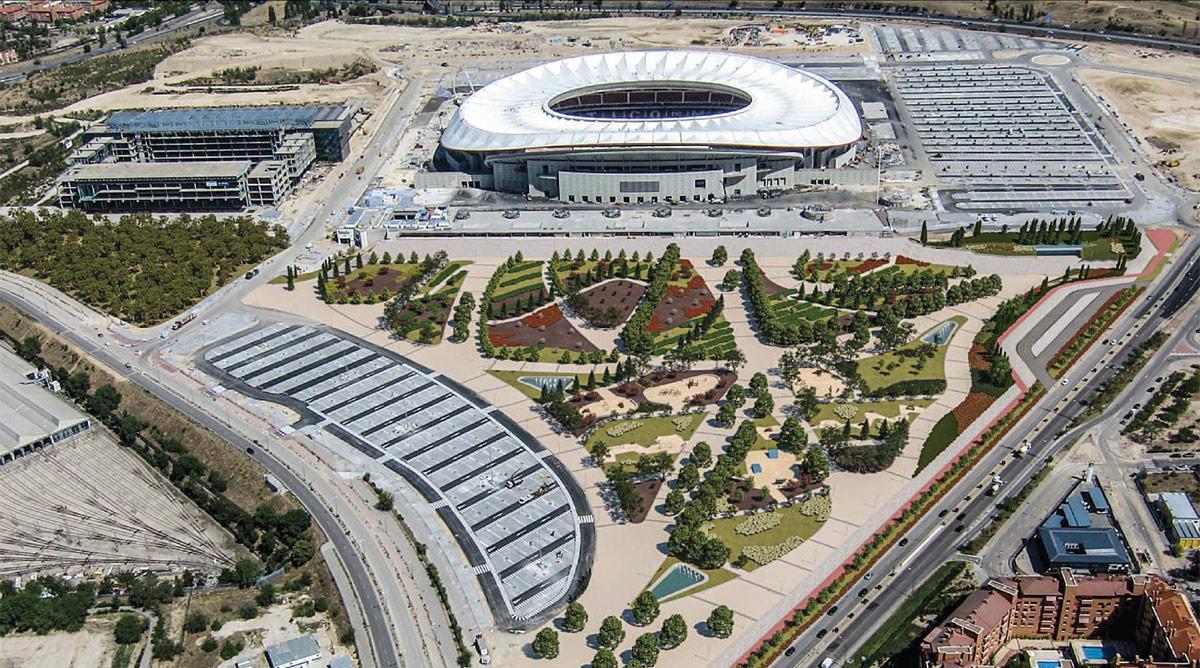 La parcela que rodea el Wanda Metropolitano albergará una ciudad deportiva