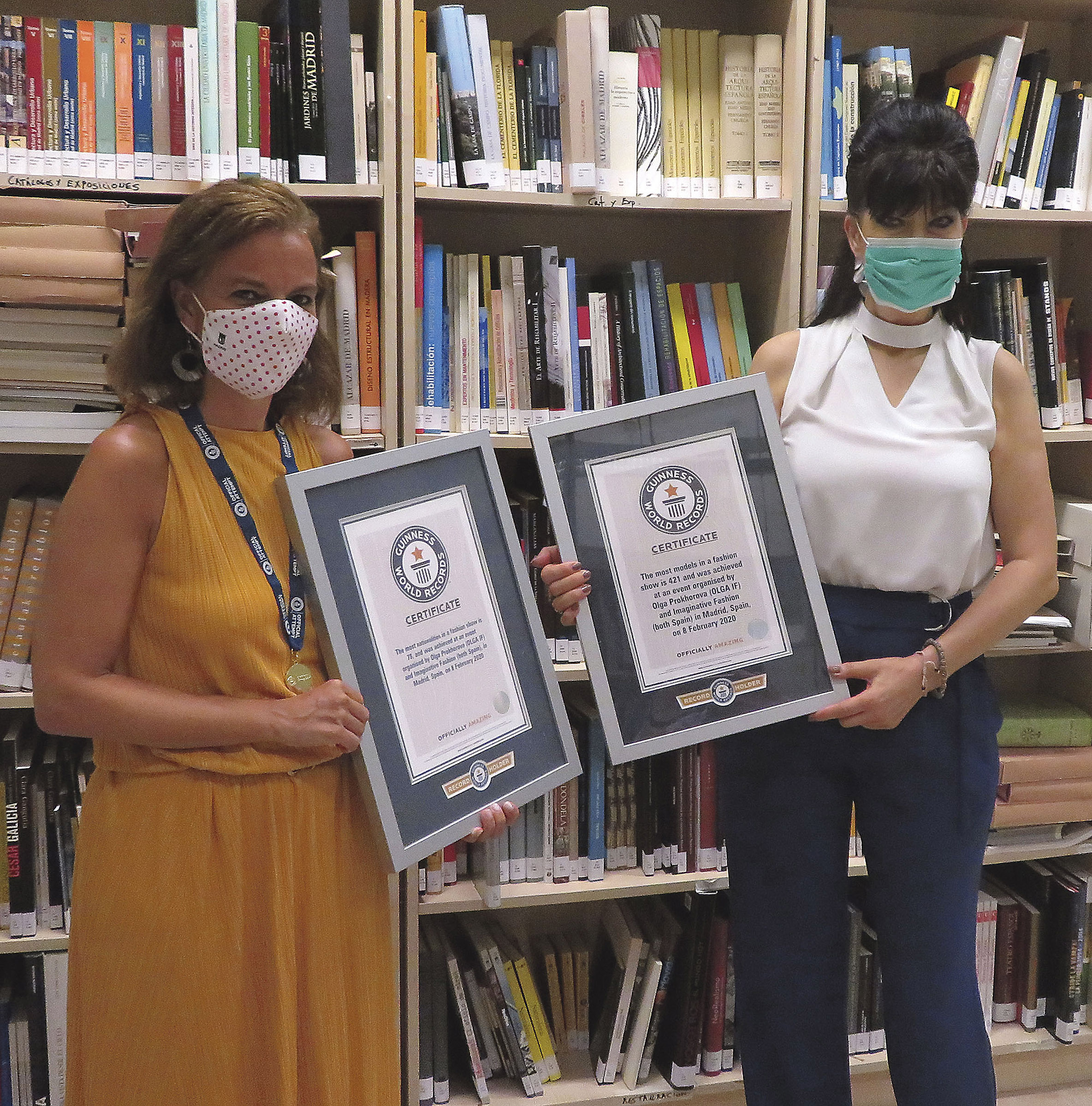 Olga con Almudena Maíllo