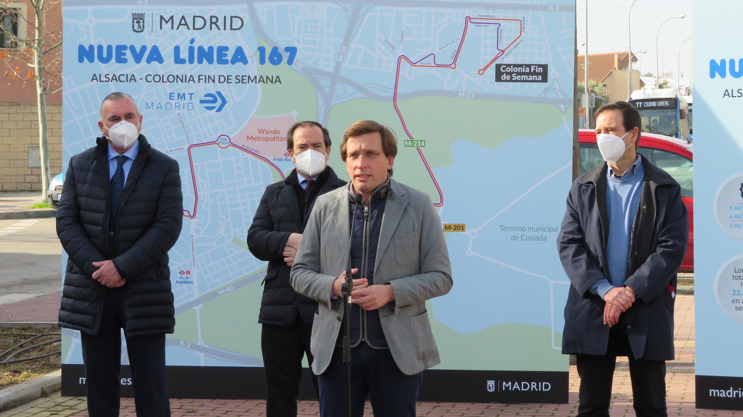Almeida durante la presentación de la nueva linea.