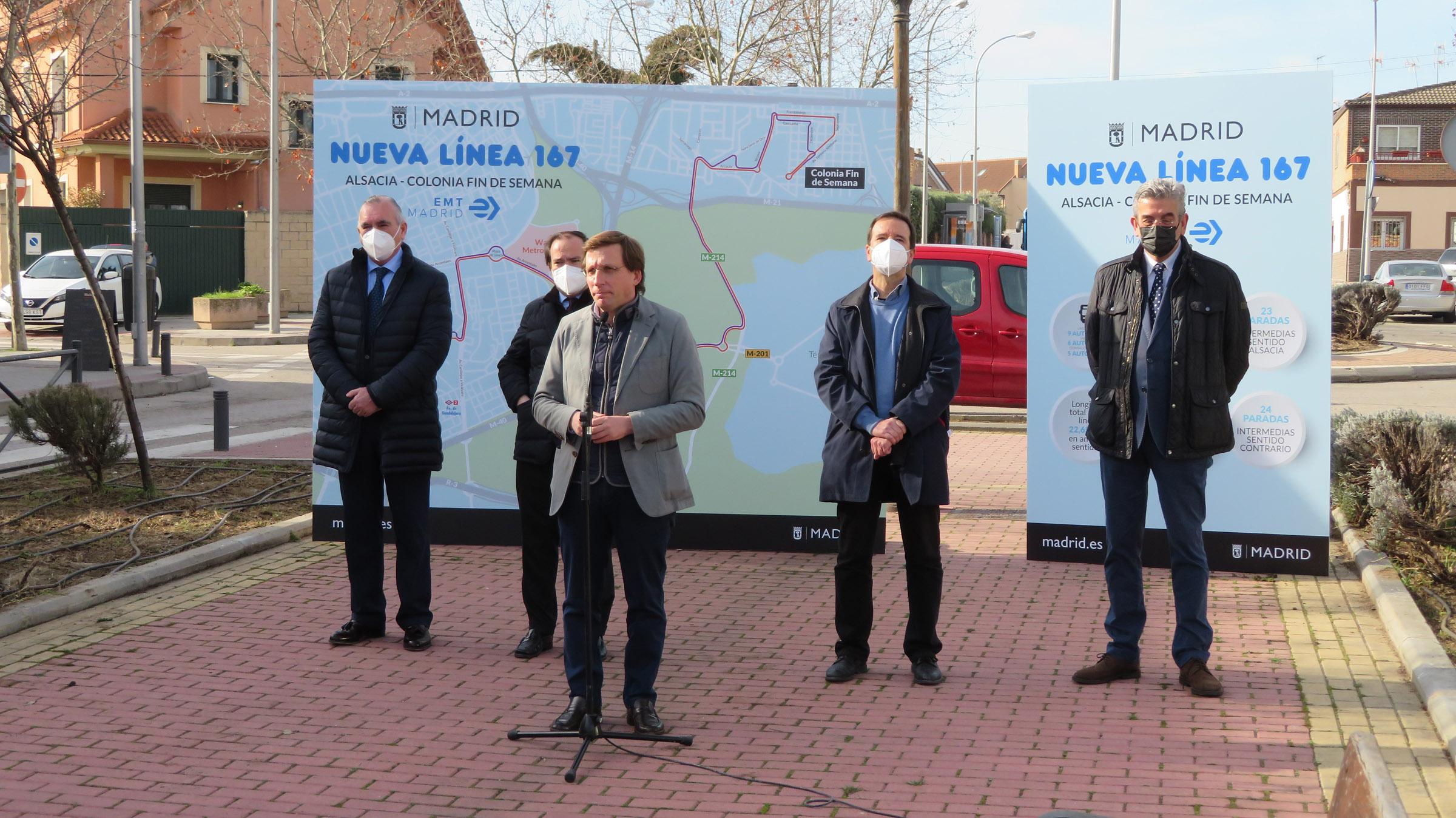 Acto de presentación nueva linea 167 de bus.