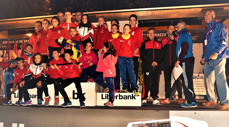 el Club de Atletismo Suanzes Espada Toledana podium