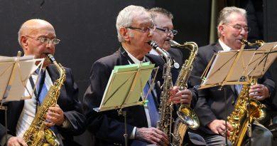 Mariano del Amo es el saxo alto de la Agrupación Musical Iberia
