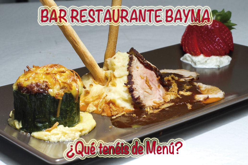 BAR RESTAURANTE BAYMA