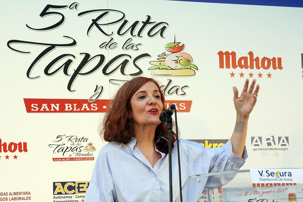 5ª Ruta de la Tapa y Tiendas de San Blas-Canillejas. Elvira Lindo