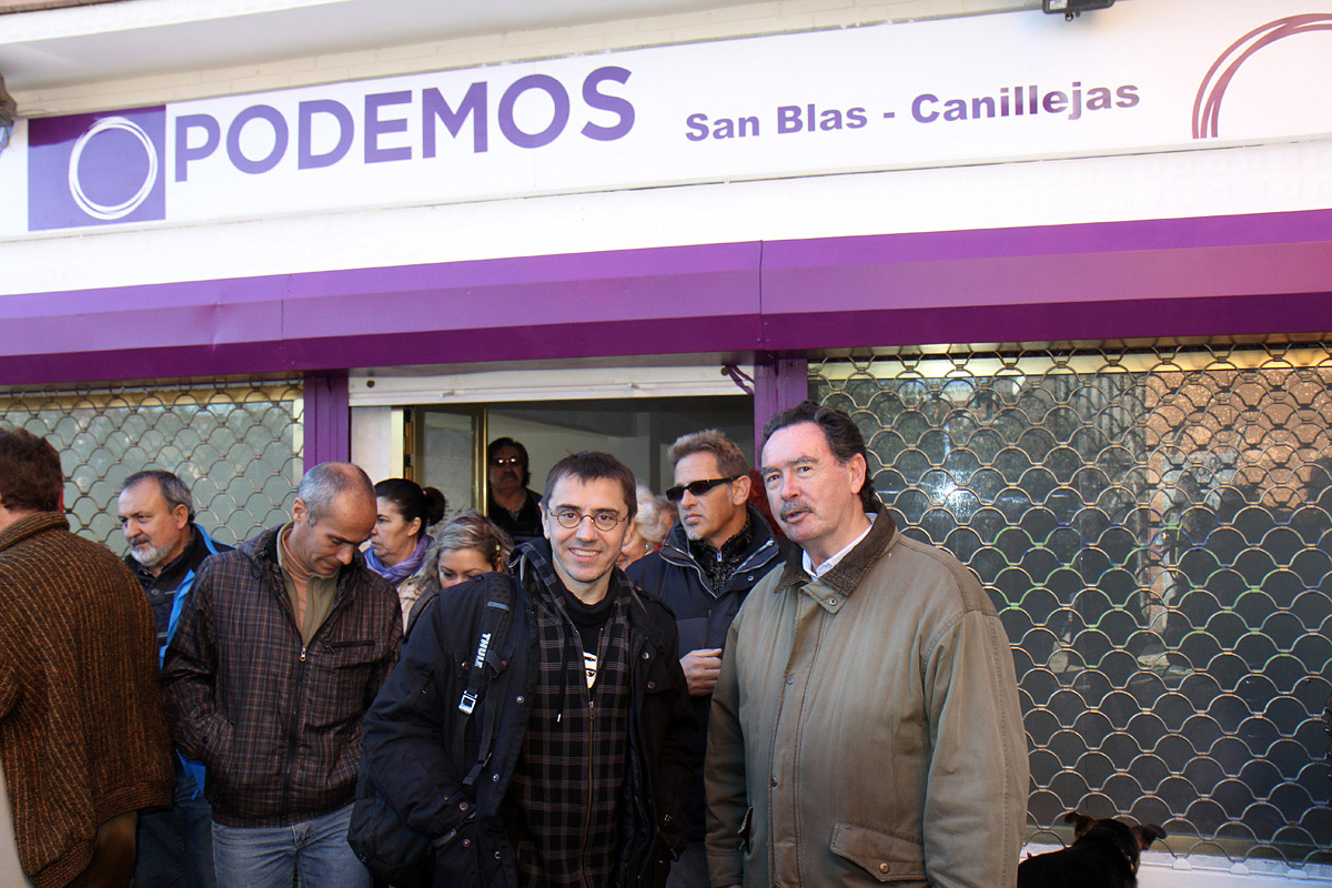 Pablo Iglesias. Juan Carlos Monedero. El Círculo de Podemos de San Blas-Canillejas