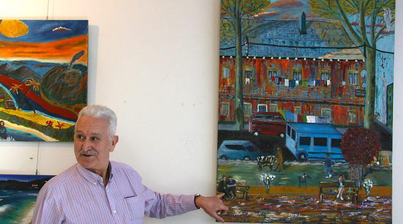 Julián González. Exposición Tanteos II, en el Centro Cultural José Luis López Vázquez