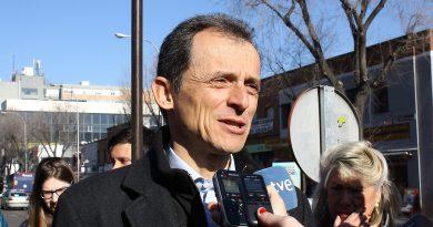 El astronauta Pedro Duque inauguró un monumento interactivo en San Blas-Canillejas/Ciudad Lineal.