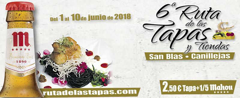 6ª Ruta de las Tapas y Tiendas San Blas-Canillejas