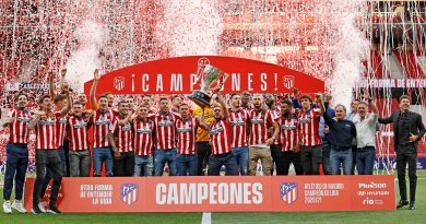 celebracion wanda metropolitano foto cesped campeones Liga koke