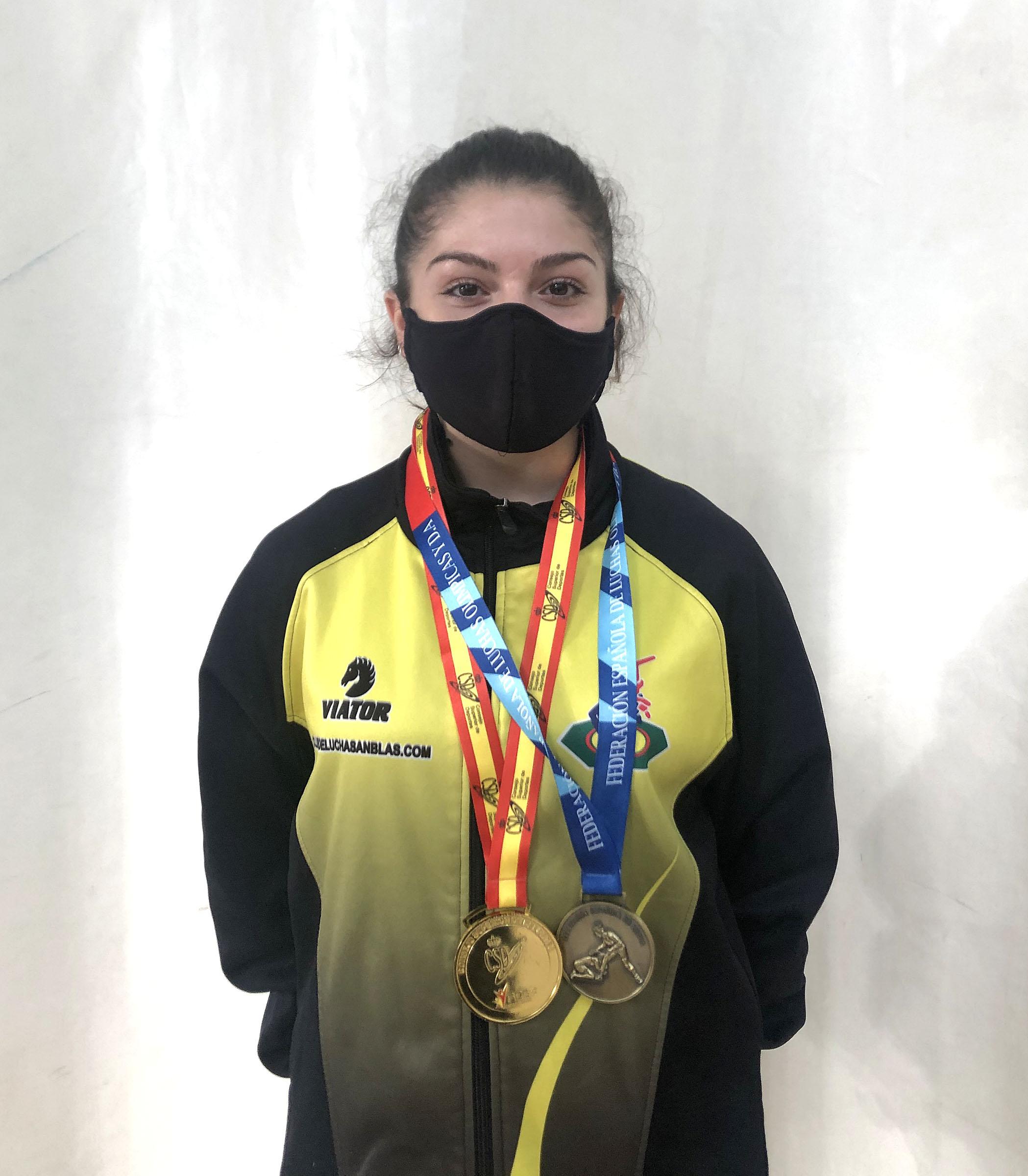 lucha Nolelia Doblas Campeona de Espana Campeona Torneo internacional jovenes promesas
